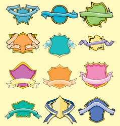 cartoon comical badges vector image