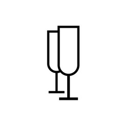 Champagne icon vector
