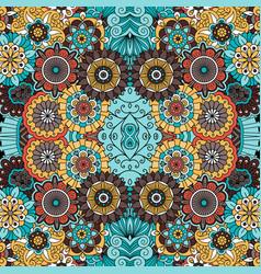 Colorful ornamental floral decorative pattern vector