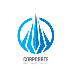 corporate business - concept logo template vector image
