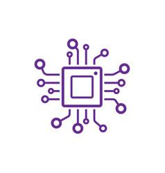 Cpu icon processor technology vector