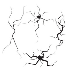 crack on the surface vector image