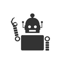 cute vintage robot icon vector image