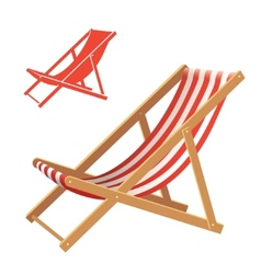Deck chair vector