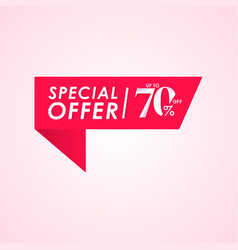 Discount special offer up to 70 off label vector