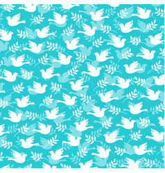 dove and olive branch pattern vector image