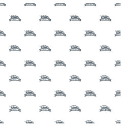 Eco car pattern seamless vector