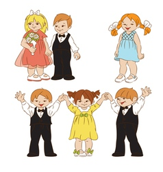 Elegant children vector