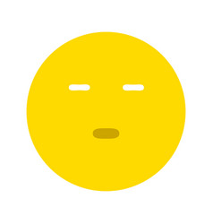 emoticon expressing boredom or disapproval vector image