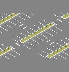 empty car parking isometric design vector image