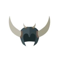 Fantasy helmet with horns vector