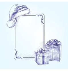 Festive Christmas card with Christmas symbols vector