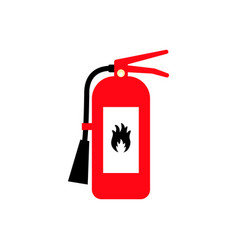 fire extinguisher cartoon flat colored icon with vector image