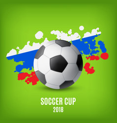 flag of russia and ball vector image