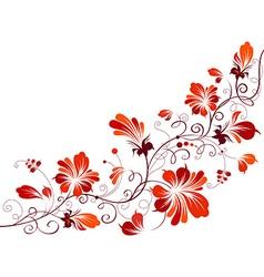 Floral vintage corner vector