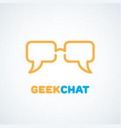 geek logo vector image