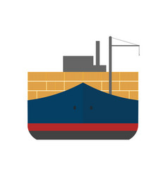 Global shipping icon with cargo ship vector