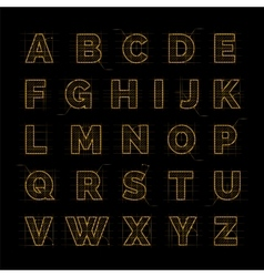 Golden font on black vector image