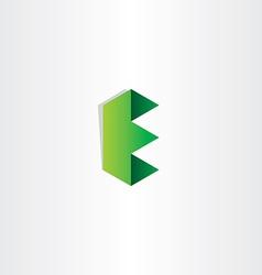 green letter e logotype design vector image