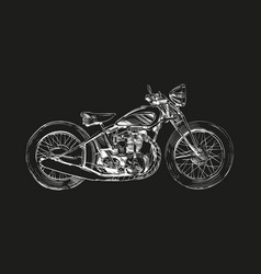 hand drawn sketch classic motorcycle vector image