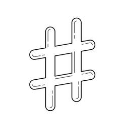 Hashtag line icon vector
