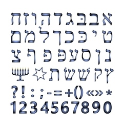 Hebrew font The Hebrew language vector image