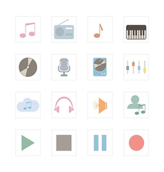 Icon music vector