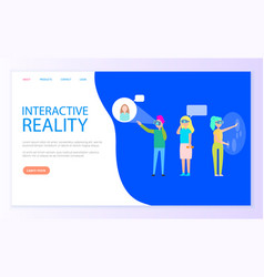 Interactive reality people chatting virtually vector