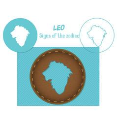 Leo signs of the zodiac lazenaya cutting it can vector