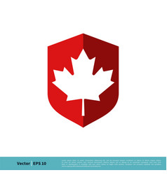 maple leaf icon logo template design eps 10 vector image