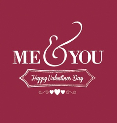 Me you chalkboard red vector
