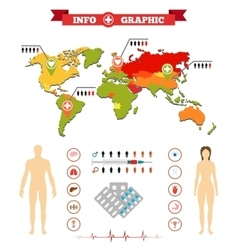 Medical anatomy women infographics and additional vector