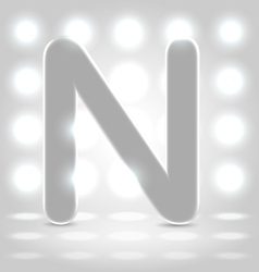N over lighted background vector