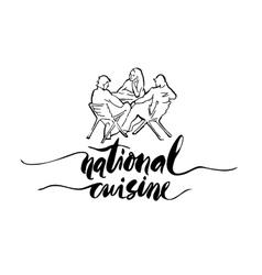 National cuisine card vector image