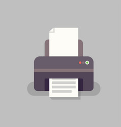 Office printer in flat stile vector