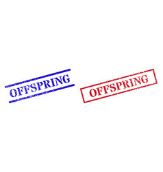 Offspring textured scratched stamp watermarks with vector