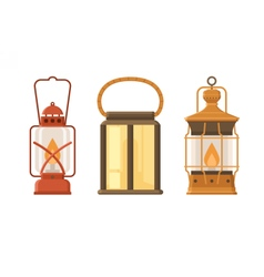 Oil Lantern Set vector image