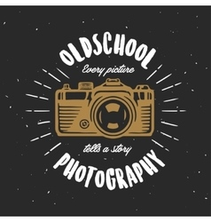 Oldschool photography vintage t-shirt design vector image