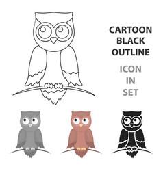 owl icon cartoon singe animal icon from the big vector image