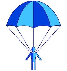 Parachuter vector image