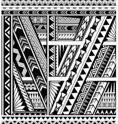 Polynesian ethnic style sleeve tattoo vector