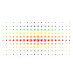 Processor spectral halftone grid vector