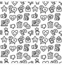 relationship seamless pattern vector image