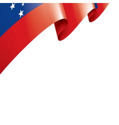 samoa flag on a white vector image