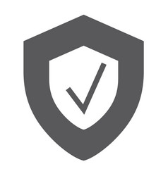 security status glyph icon safety and protect vector image