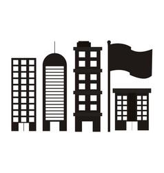 set city building vector image