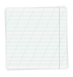Sheet paper in a slanting line vector