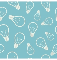 Simple light bulb seamless pattern vector