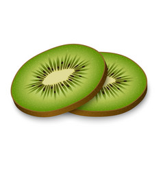sliced kiwi mockup realistic style vector image