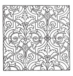 Stamped-leather pattern is a 17th century design vector
